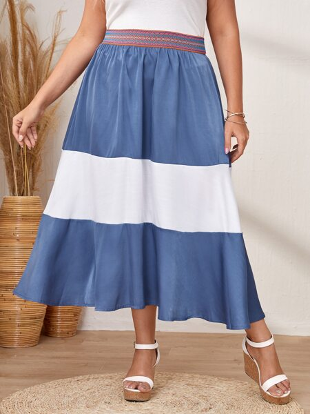 Plus Cut And Sew Flared Skirt