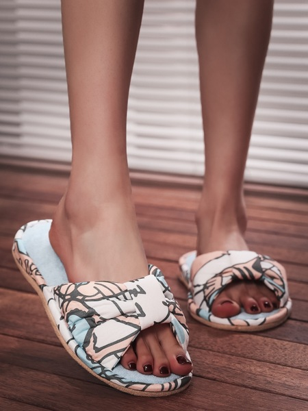 Allover Graphic Bedroom Slippers