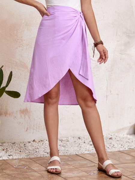 Knot Side Wrap Skirt