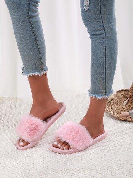 Minimalist Fluffy Slides