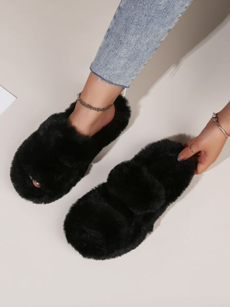 Minimalist Fluffy Bedroom Slippers
