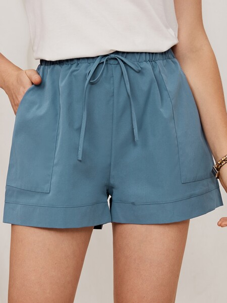 Solid Knot Front Shorts