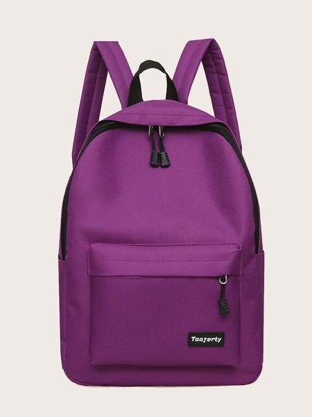 Letter Graphic Pocket Front Backpack