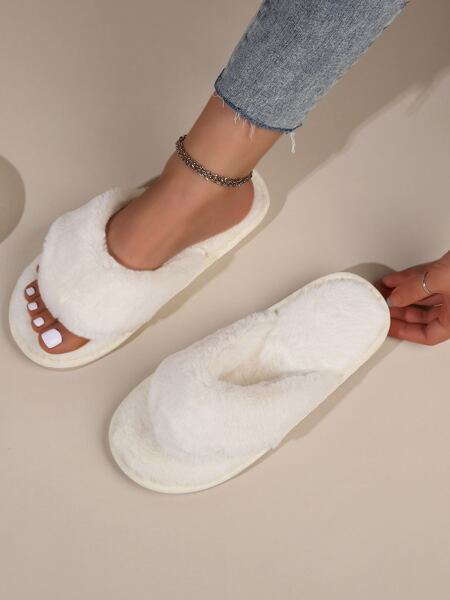 Thong Fluffy Slippers