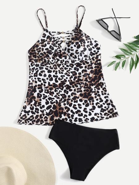 Leopard Print Bikini Swimsuit