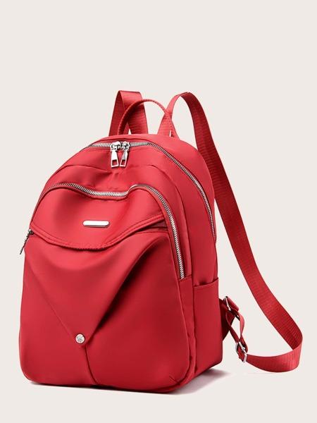 Minimalist Double Zipper Backpack