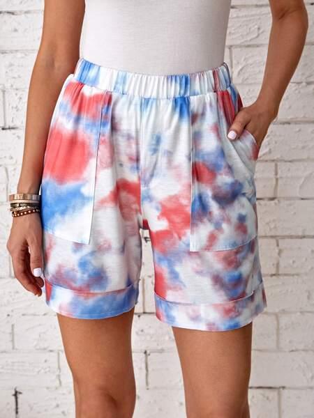 Tie Dye Slant Pocket Shorts