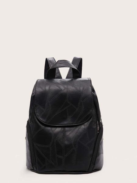 Plain Flap Backpack