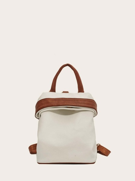 Colorblock Drawstring Backpack