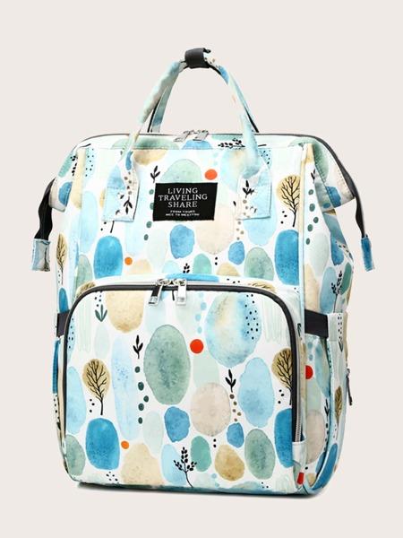 Graphic Pattern School Bag