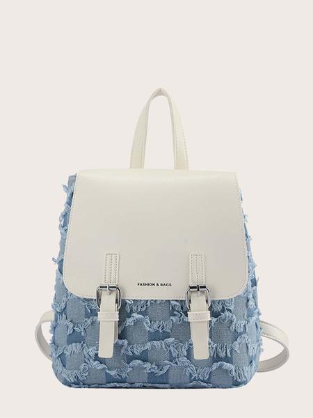 Raw Edge Flap Backpack