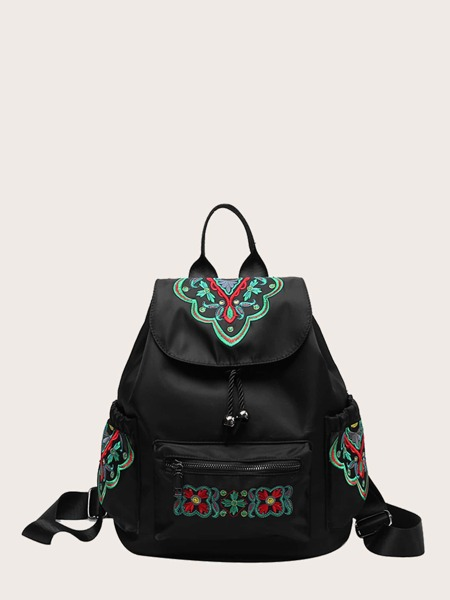 Graphic Pattern Drawstring Backpack