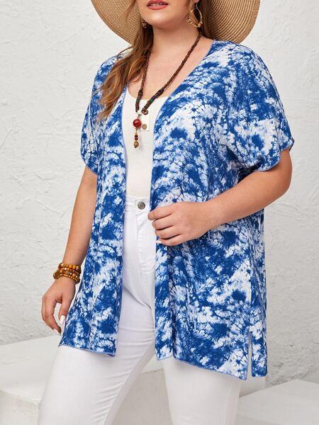 Plus Tie Dye Kimono