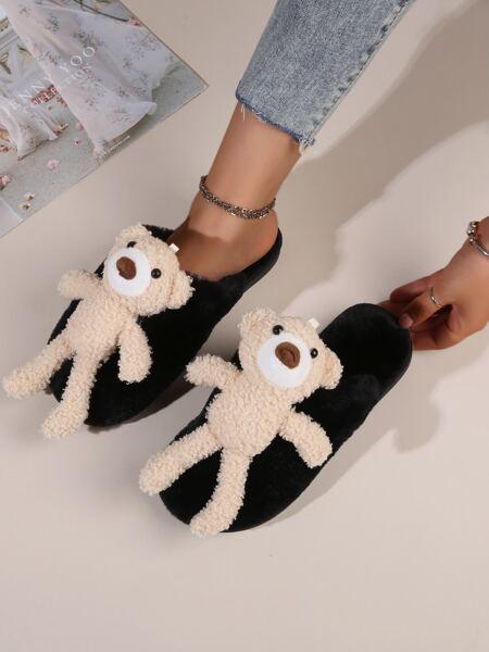 Cartoon Decor Fluffy Slippers