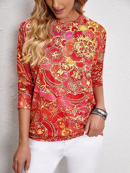 Allover Print Sweatshirt