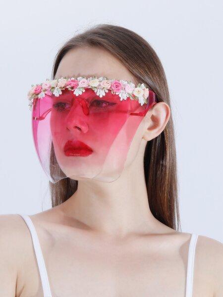 Flower Decor Shield Face Mask