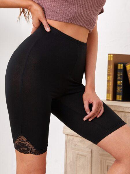 Lace Detail Biker Shorts