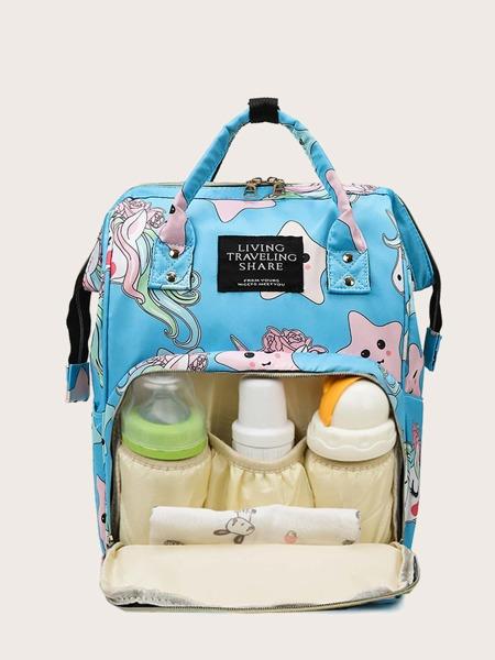 Cartoon Graphic Baby Diaper Backpack