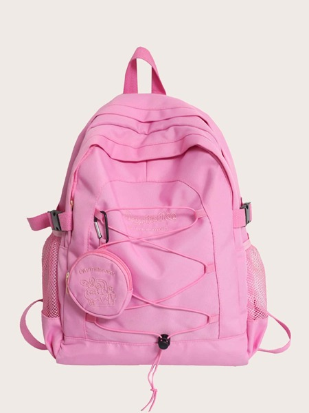 Large Capacity Backpack With Coin Case