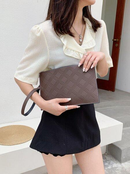 Minimalist Textured Clutch Bag