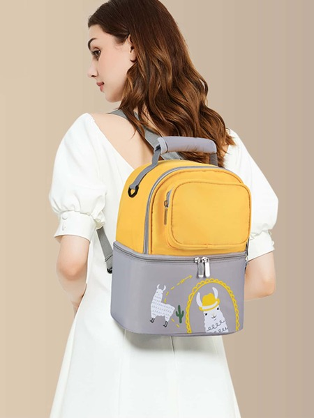 Two Tone Alpaca Graphic Backpack