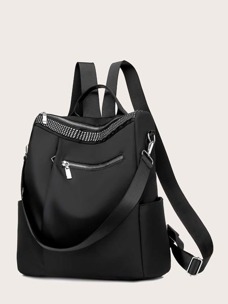 Rhinestone Decor Backpack