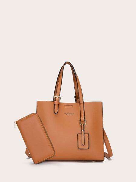 2pcs Solid Large Capacity Bag Set