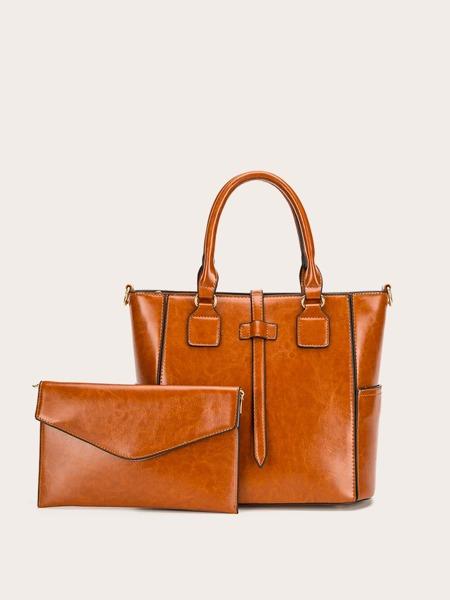2pcs Solid Bag Set