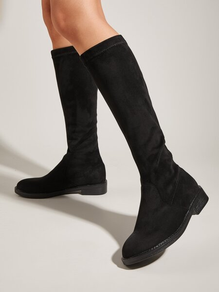Minimalist Block Heeled Boots