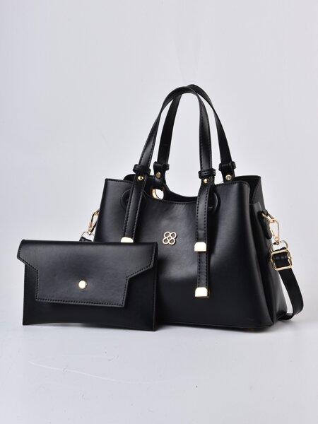 2pcs Minimalist Shoulder Tote Bag Set