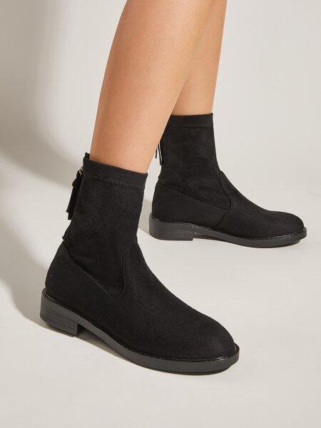 Minimalist Back Zipper Boots