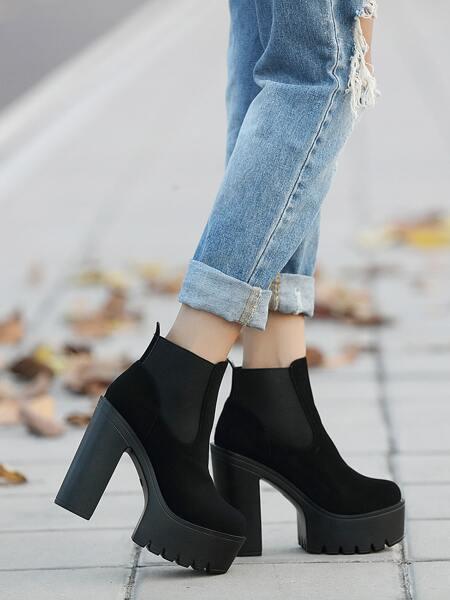 Minimalist Platform Chelsea Boots
