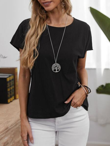Keyhole Back Solid Top