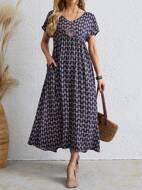 Allover Print Smock Dress