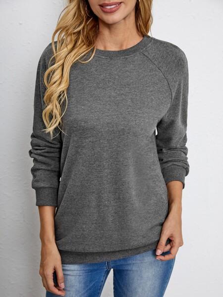 Space Dye Raglan Sleeve Sweatshirt