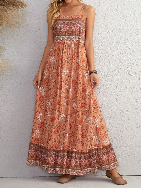 Floral Ruffle Hem Cami Dress