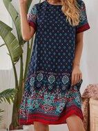 Allover Print Tunic Dress
