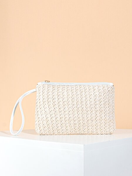 Braided Pattern Wristlet Bag