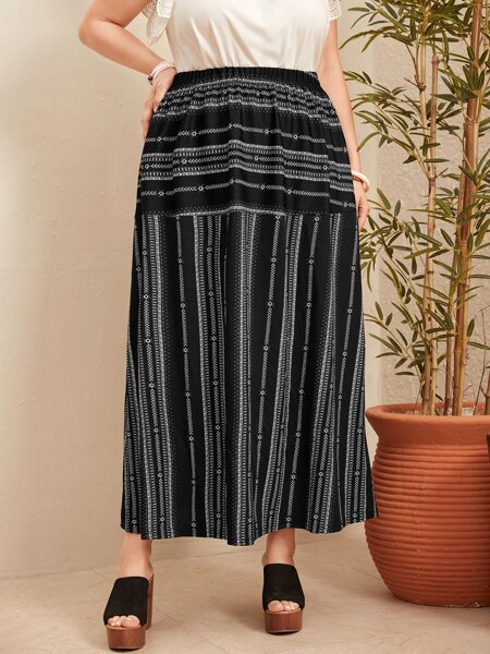 Plus High Waist Skirt