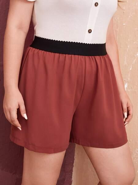 Plus Colorblock Shorts