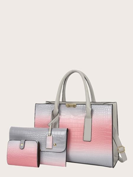 3pcs Ombre Pattern Bag Set
