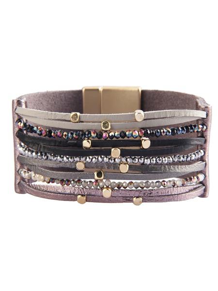 Bead Decor Layered Bracelet