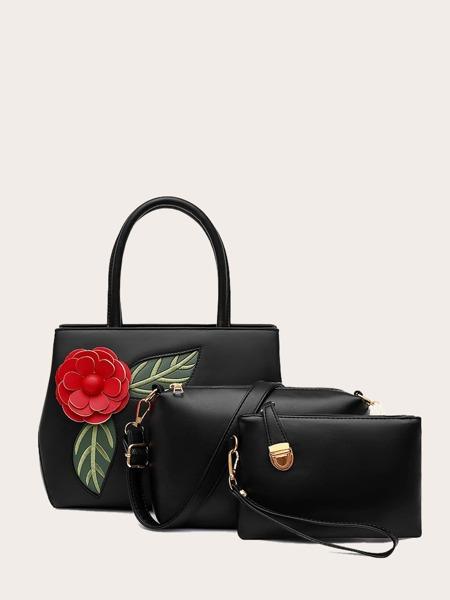 3pcs Flower Decor Bag Set