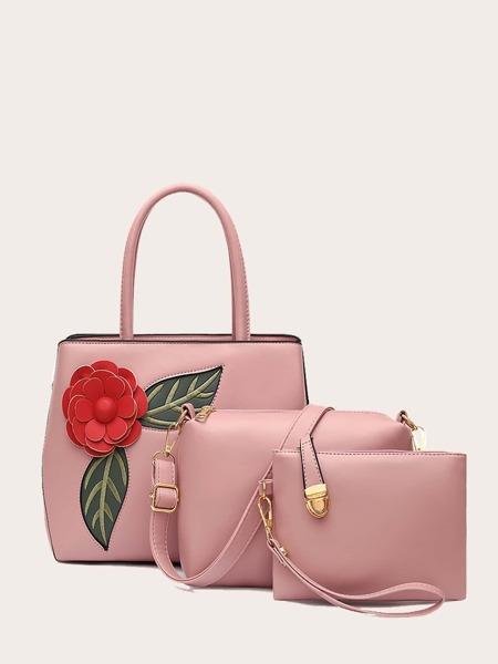 3Pcs Applique Bag Set