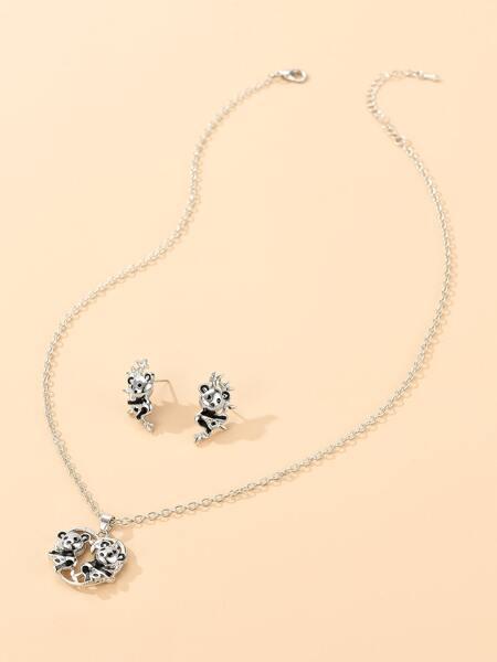 3pcs Animal Decor Jewelry Set