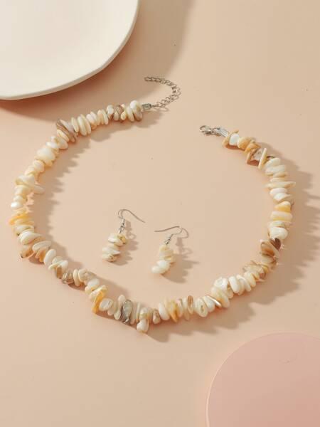 3pcs Stone Decor Jewelry Set