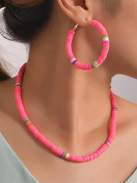 3pcs Soft Clay Jewelry Set