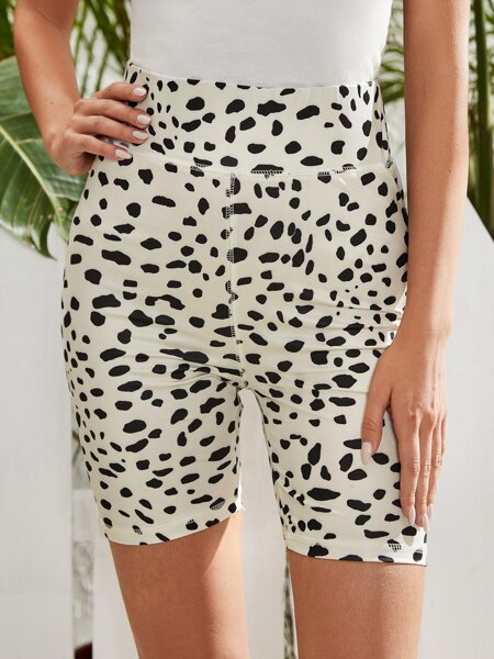 All Over Print Biker Shorts