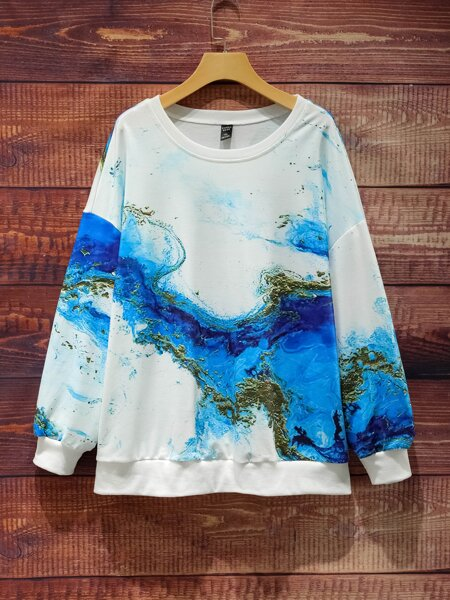 Plus Graphic Drop Shoulder Sweatshirt