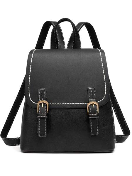 Stitch Trim Buckle Backpack